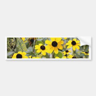 Yellow Sunshine Wildflowers Flowers Bumper Sticker