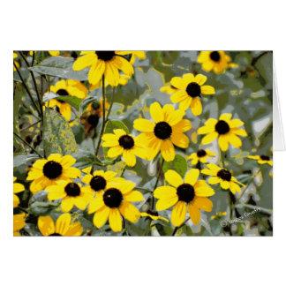 Yellow Sunshine Wildflowers Flowers Greeting Card