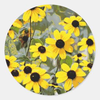 Yellow Sunshine Wildflowers Flowers Stickers