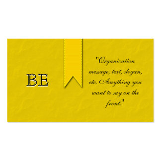 Yellow Support Group Ribbon Business Cards