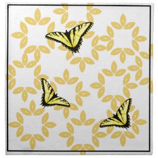 Yellow Swallowtail Butterflies Printed Napkin