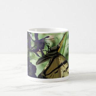 Yellow Swallowtail Butterfly Basic White Mug