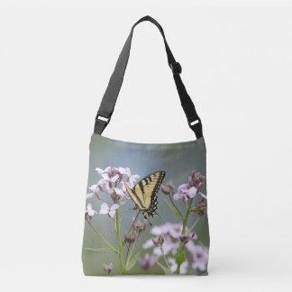 Yellow swallowtail butterfly crossbody bag