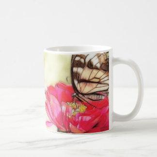 Yellow Swallowtail butterfly on a Zinnia Coffee Mug