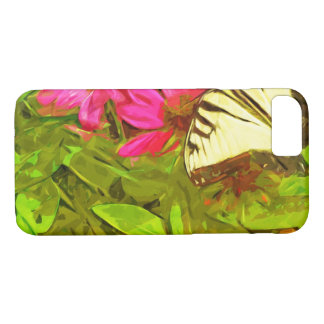Yellow Swallowtail Butterfly on Flowers Abstract iPhone 7 Case
