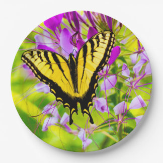 Yellow Swallowtail Butterfly Paper Plate