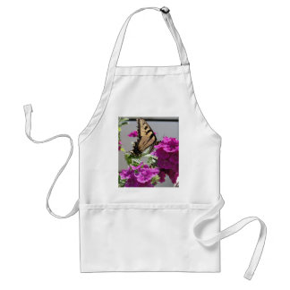Yellow Swallowtail Butterfly Purple Flowers Aprons