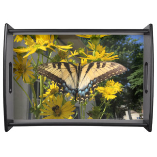 Yellow Swallowtail Butterfly Serving Tray