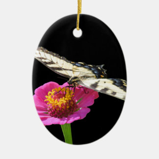 Yellow Swallowtail Ceramic Oval Decoration
