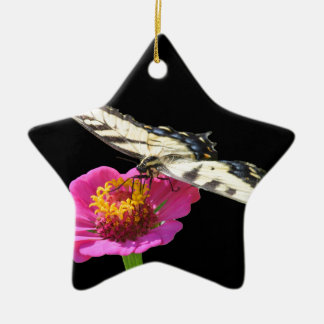 Yellow Swallowtail Ceramic Star Decoration