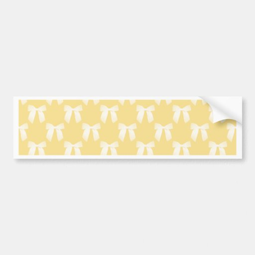 Yellow Sweet Butter With White Bow Bumper Sticker