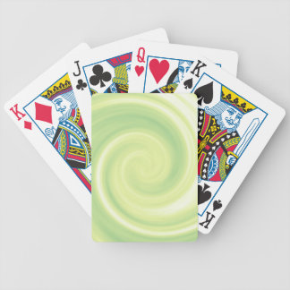 Yellow Swirl Poker Deck