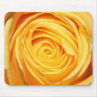 Yellow Swirl Rose Mouse Pad