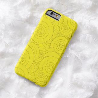 Yellow Swirls! Barely There iPhone 6 Case