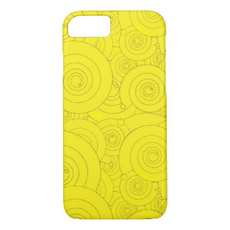 Yellow Swirls! iPhone 7 Case
