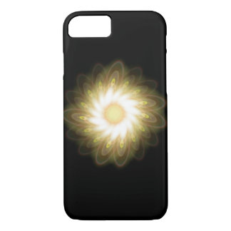 Yellow Swirls on Black Abstract iPhone 7 Case