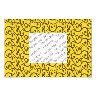 Yellow swirls photo