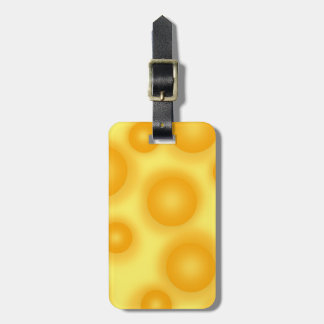 Yellow Swiss Cheese Luggage Tag