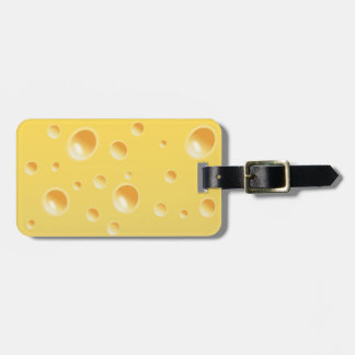 Yellow Swiss Cheese Texture Luggage Tag