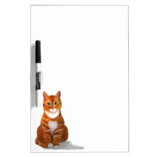 Yellow Tabby Cat Dry Erase Board