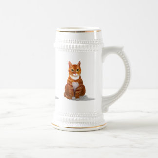 Yellow Tabby Cat Stein