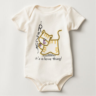 Yellow Tabby Rescue...it's a love thing! Baby Bodysuit