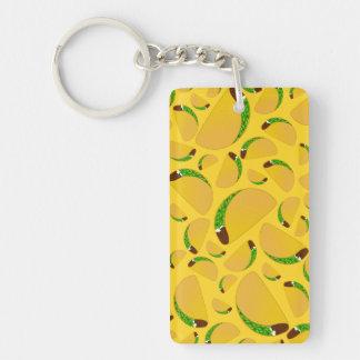 Yellow tacos keychain