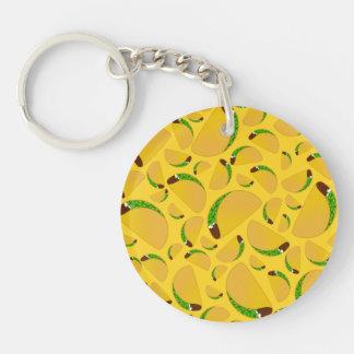 Yellow tacos key chain
