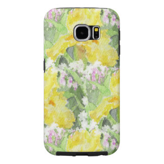 Yellow Tall Bearded Iris Watercolor Samsung Galaxy S6 Cases