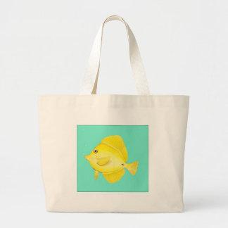 Yellow Tang Large Tote Bag