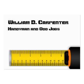 Yellow Tape Measure Construction Business Card