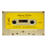Yellow Tape Pack Of Standard Business Cards