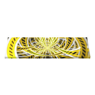 Yellow Tape Roller Coaster Ride on Fractal Rails Canvas Print