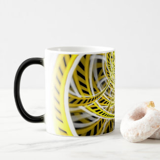 Yellow Tape Roller Coaster Ride on Fractal Rails Magic Mug