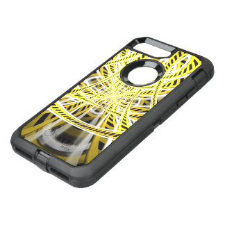Yellow Tape Roller Coaster Ride on Fractal Rails OtterBox Defender iPhone 8 Plus/7 Plus Case