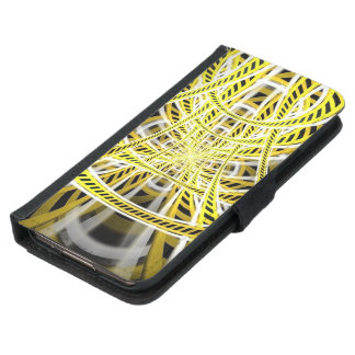 Yellow Tape Roller Coaster Ride on Fractal Rails Samsung Galaxy S5 Wallet Case