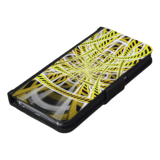Yellow Tape Roller Coaster Ride on Fractal Rails Samsung Galaxy S6 Wallet Case