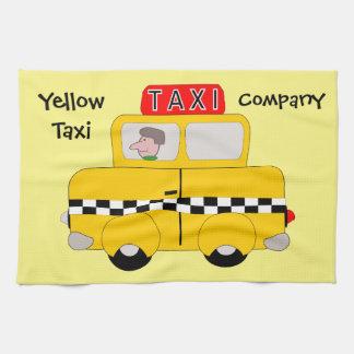 Yellow Taxi Custom Tea Towel
