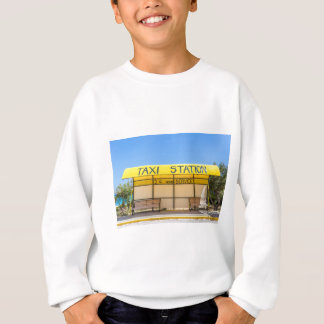 Yellow taxi station at coast in Greece Sweatshirt