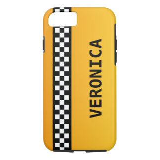 "Yellow Taxi Stripe ""Add Your Name"" iPhone 7 Case"