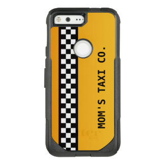 "Yellow Taxi Stripe ""Mom's Taxi Co."" OtterBox Commuter Google Pixel Case"