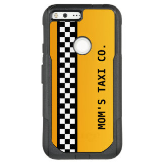 "Yellow Taxi Stripe ""Mum's Taxi Co."" OtterBox Commuter Google Pixel XL Case"