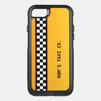 """Yellow Taxi Stripe """"Mum's Taxi Co."""" OtterBox Commuter iPhone 7 Case"""