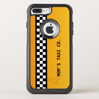 "Yellow Taxi Stripe ""Mum's Taxi Co."" OtterBox Commuter iPhone 8 Plus/7 Plus Case"