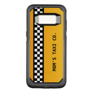 "Yellow Taxi Stripe ""Mum's Taxi Co."" OtterBox Commuter Samsung Galaxy S8 Case"