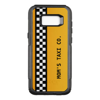 "Yellow Taxi Stripe ""Mum's Taxi Co."" OtterBox Commuter Samsung Galaxy S8+ Case"