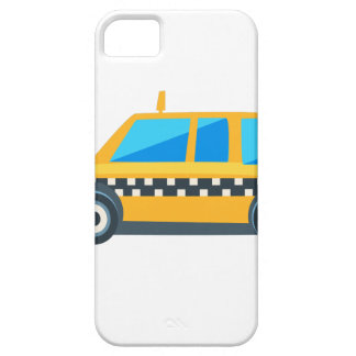 Yellow Taxi Toy Cute Car Icon. Flat Vector iPhone 5 Case