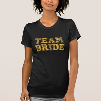 Yellow Team Bride Wedding Party T-Shirt