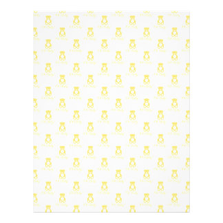 Yellow Teddy Bear and Polka Dot Scrapbooking Paper 21.5 Cm X 28 Cm Flyer