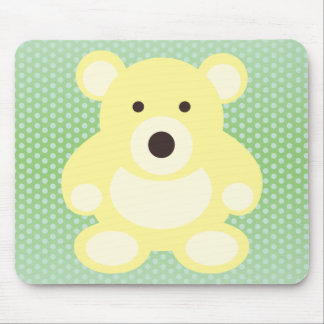Yellow Teddy Bear Mouse Pads